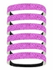 Glitter Headbands 6 Pack Bubble Gum Pink