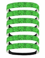 Glitter Headbands 6 Pack Green