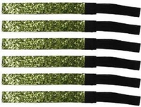 Glitter Headbands 6 Pack Lime