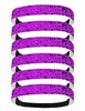 Glitter Headbands 6 Pack Purple