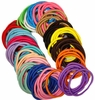Hair Elastics 100 Pack Multi Color