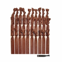 Hair Ties 30 Pack Brown