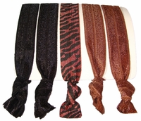 Hair Ties - Brown Zebra