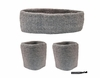 Headband and Wristbands 3 Pack Gray