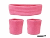 Headband and Wristbands 3 Pack Light Pink