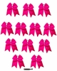 "JUMBO 8"" Hot Pink Bow Pack of 12"