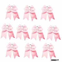"JUMBO 8"" Light Pink Bows Pack of 10"