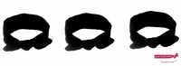 Knotted Cotton Bow Headband Black 3 Pack