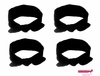 Knotted Cotton Bow Headband Black 4 Pack