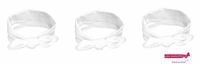 Knotted Cotton Bow Headband White 3 Pack