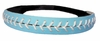 Leather Softball Seam Stitch Headband Light Blue White