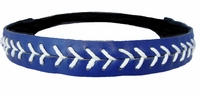 Leather Softball Seam Stitch Headband Navy White