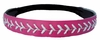 Leather Softball Seam Stitch Headband Pink White