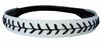Leather Softball Seam Stitch Headbands White Black
