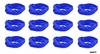 Moisture Wicking Headbands Blue 12 Pack