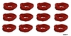 Moisture Wicking Headbands Burgundy 12 Pack