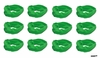 Moisture Wicking Headbands Green 12 Pack