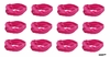 Moisture Wicking Headbands Hot Pink 12 Pack