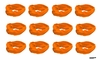 Moisture Wicking Headbands Orange 12 Pack