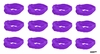 Moisture Wicking Headbands Purple 12 Pack