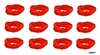 Moisture Wicking Headbands Red 12 Pack