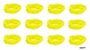 Moisture Wicking Headbands Yellow 12 Pack