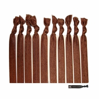 No Crease Hair Ties (All Brown) - 10 Pack By Kenz Laurenz