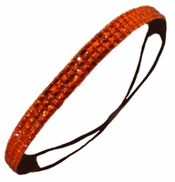 Rhinestone Glitter Headband Orange