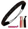 Rhinestone Headband Black With Hair Ties