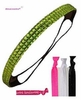 Rhinestone Headband Lime With Hair Ties