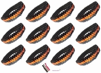 Sequin Headbands 12 Pack Black and Orange