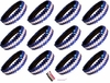 Sequin Headbands 12 Pack Blue and White