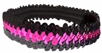 Sequin Headbands Black and Pink