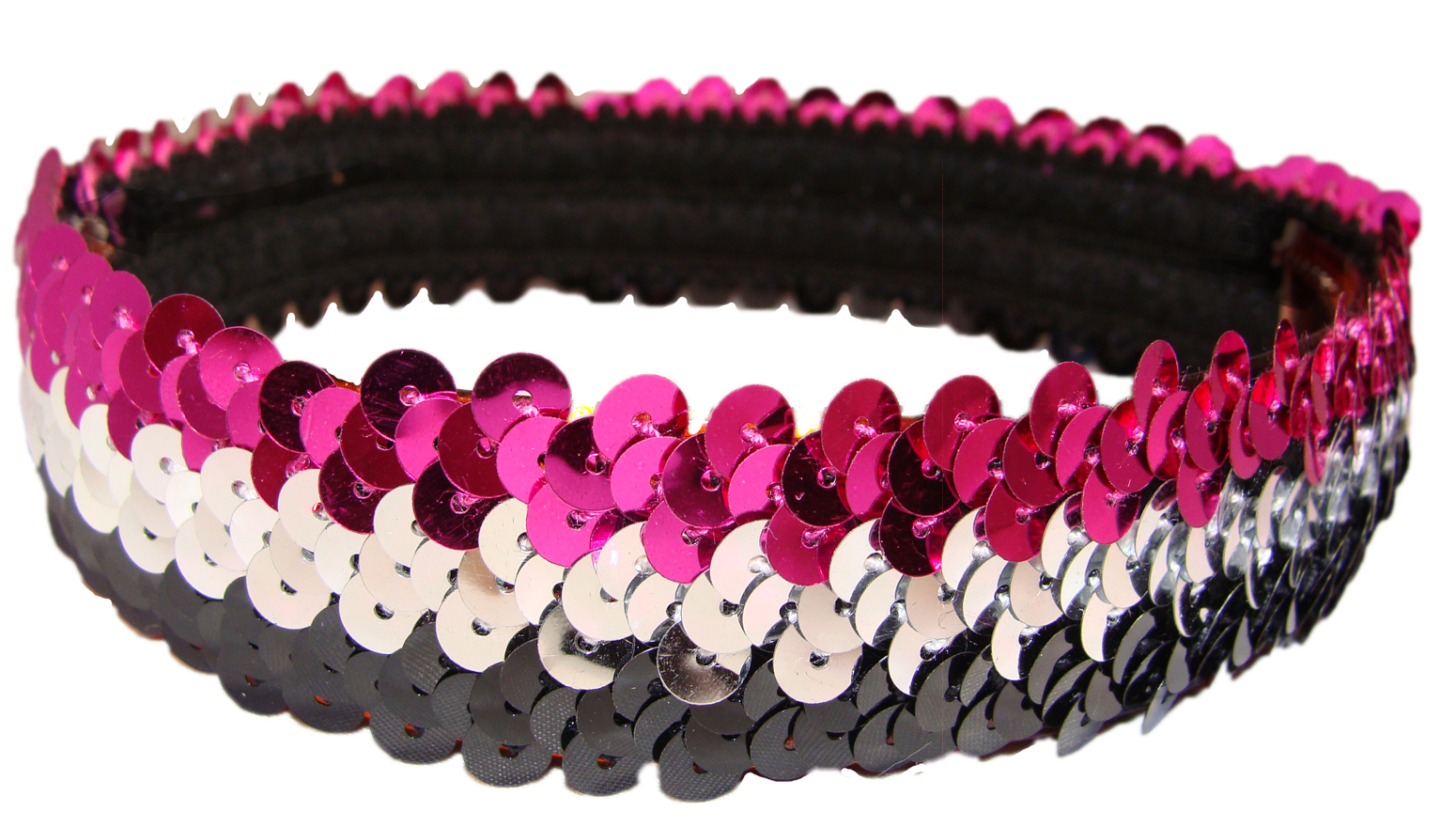 Sequin Headbands Black and Silver and Pink 102a4270c32