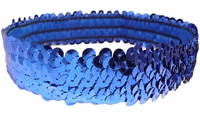 Sequin Headbands Blue