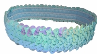 Sequin Headbands Light Blue - Iridescent