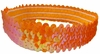 Sequin Headbands Orange