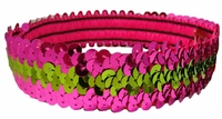 Sequin Headbands Pink and Lime