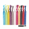 Shimmer Hair Ties 20 Pack You Pick Your Colors