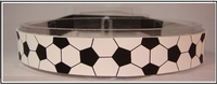 Soccer Headbands Black and White Real Leather