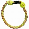 Softball Titanium Ionic Braided Bracelet