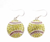 Softball Dangle Earrings