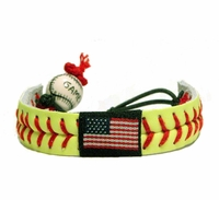 Softball Flag Bracelet Yellow/Red