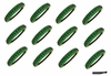Softball Headbands 12 Pack Green/Black