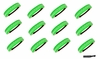 Softball Headbands 12 Pack Neon Green/White