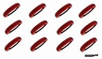 Softball Headbands 12 Pack Red/Black