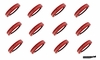 Softball Headbands 12 Pack Red/White