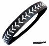 Softball Headband Black/White
