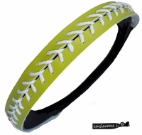 Softball Headband Lime/White