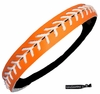 Softball Headband Orange/White